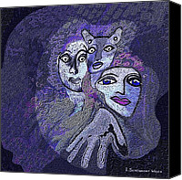 Glove Digital Art Canvas Prints - 028 -   Hallucination  N Canvas Print by Irmgard Schoendorf Welch