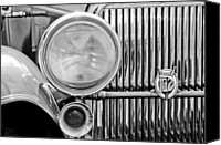 Grille Canvas Prints - 1931 Stutz DV-32 Convertible Sedan Grille Emblem Canvas Print by Jill Reger