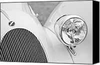 Lago Canvas Prints - 1937 Talbot-Lago T150C Figoni and Falaschi Cabriolet Headlight Emblem Canvas Print by Jill Reger