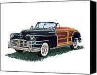 Country Photographs Canvas Prints - 1948 Chrysler Town and Country Canvas Print by Jack Pumphrey