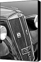 4th Canvas Prints - 1952 Lancia Ardea 4th Series Berlina Grille Emblems Canvas Print by Jill Reger