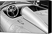 Automotive Photography Canvas Prints - 1955 Porsche Spyder Canvas Print by Jill Reger