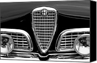 Grille Canvas Prints - 1959 Alfa Romeo Giulietta Sprint Grille Canvas Print by Jill Reger