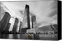Manhattan Special Promotions - 9/11 Memorial Canvas Print by Shishir Sathe