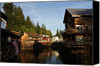 Still Life Canvas Prints - Alaska Creek Street Canvas Print by Michael J Bauer