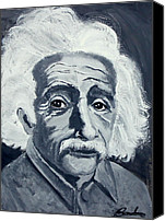 Theory Of Relativity Canvas Prints - Albert Einstein Canvas Print by Barbara Giuliano