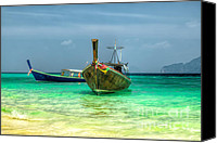 Thai Canvas Prints - All Aboard Canvas Print by Adrian Evans