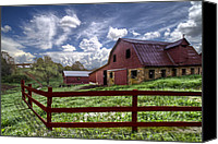 Fences Canvas Prints - All American Canvas Print by Debra and Dave Vanderlaan