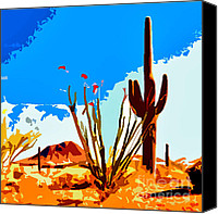 Jerome Stumphauzer Canvas Prints - Arizona Desert Canvas Print by Jerome Stumphauzer