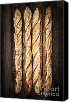 Hand Crafted Canvas Prints - Baguettes Canvas Print by Elena Elisseeva