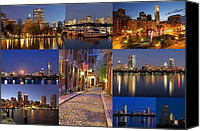 Juergen Roth Canvas Prints - Boston Skyline Photography Canvas Print by Juergen Roth
