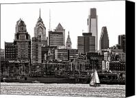 Philadelphia Canvas Prints - Center City Philadelphia Canvas Print by Olivier Le Queinec