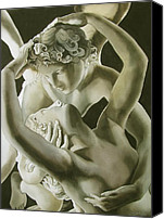 Alfred Ng Sculpture Canvas Prints - Cupid And Psyche Canvas Print by Alfred Ng