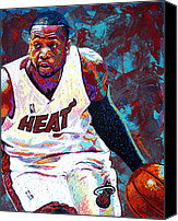 All-star Painting Canvas Prints - D. Wade Canvas Print by Maria Arango