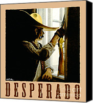 Old West Canvas Prints - Desperado Canvas Print by Will Bullas