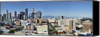 Downtown Los Angeles Canvas Prints - Downtown Los Angeles Canvas Print by Kelley King