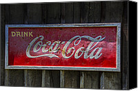 Signage Photo Canvas Prints - Drink Coca Cola Canvas Print by Garry Gay