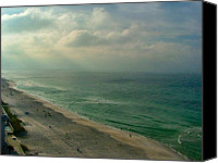 Panama City Beach Photo Canvas Prints - Early Morning Light on the Gulf Canvas Print by Julie Dant