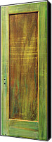 Door Sculpture Canvas Prints - Forest Painted Door Canvas Print by Asha Carolyn Young