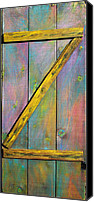 Door Sculpture Canvas Prints - Gateway to Z Universe Canvas Print by Asha Carolyn Young
