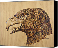 America Pyrography Canvas Prints - Golden Eagle Canvas Print by Ron Haist