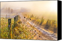 Rural Scenes Canvas Prints - Good Morning Farm Canvas Print by Debra and Dave Vanderlaan