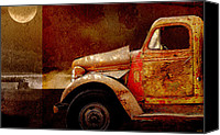 Truck Canvas Prints - Harvest Moon Canvas Print by Holly Kempe