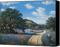 Texas Bluebonnets Canvas Prints - Hill Country Blues Canvas Print by Kyle Wood