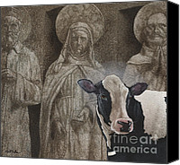 Cow Canvas Prints - Holy Cow... Canvas Print by Will Bullas