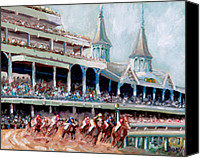 Horses Posters Canvas Prints - Kentucky Derby Canvas Print by Todd Bandy
