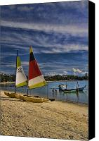 Asian Canvas Prints - Koh Samui Beach Canvas Print by David Smith