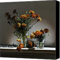 Still Life Canvas Prints - Marigolds  Canvas Print by Larry Preston