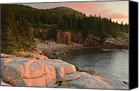 Acadia Canvas Prints - Monument Cove At Sunrise Canvas Print by Stephen  Vecchiotti