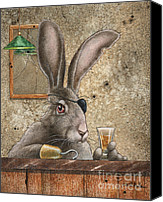 Hare Canvas Prints - Mr Lucky Canvas Print by Will Bullas