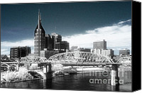 Nashville Skyline Canvas Prints - Nashville Skyline Canvas Print by Jeff Holbrook