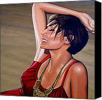 Paul Meijering Canvas Prints - Natalie Imbruglia Canvas Print by Paul Meijering