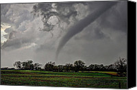 Tornado Canvas Prints - Oklahoma Swirl Canvas Print by Zach  Roberts