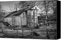 White Barns Canvas Prints - Old Timer Canvas Print by Bill  Wakeley