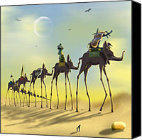 Dali Canvas Prints - On the Move Canvas Print by Mike McGlothlen