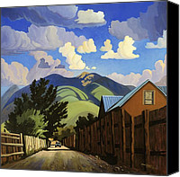 Taos Canvas Prints - On the Road to Lilis Canvas Print by Art West