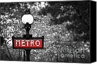 Metal Canvas Prints - Paris metro Canvas Print by Elena Elisseeva