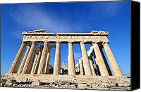Acropolis Canvas Prints - Parthenon temple Canvas Print by George Atsametakis