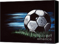 Motivation For Children Canvas Prints - Soccer Ball Canvas Print by Danise Jennings