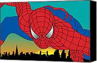 Superheroes Canvas Prints - Spiderman  Canvas Print by Mark Ashkenazi