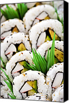 Serve Photo Canvas Prints - Sushi platter Canvas Print by Elena Elisseeva