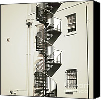 Spiral Staircase Canvas Prints - Swirling Spiral Canvas Print by Meg Lee Photography
