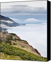 Michel Soucy Canvas Prints - The Cabot Trail Canvas Print by Michel Soucy