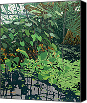 Malcolm Warrilow Canvas Prints - The Pond Canvas Print by Malcolm Warrilow
