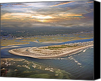 Topsail Island Canvas Prints - Topsail Island Paradise Canvas Print by East Coast Barrier Islands Betsy A Cutler