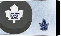 Maple Leafs Canvas Prints - Toronto Maple Leafs Canvas Print by Joe Hamilton